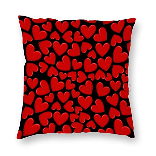 JamirtyRoy1 12 x 12 Inch Pillow Case, Puffy Hearts Decorative Throw Pillow Cover Cushion Case