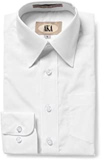 AKA Boys Solid Long Sleeve Dress Shirt - Back to School