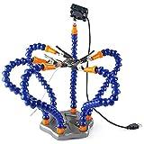 MMOBIEL Strumento flessibile per aiuto saldature con stazione con cassetto, resistente al calore rotazione clip