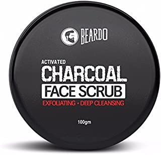 Beardo Activated Charcoal Anti-Pollution Face Scrub for Men   Exfoliating Scrub for Deep SKin Cleansing   Blackhead Remova...