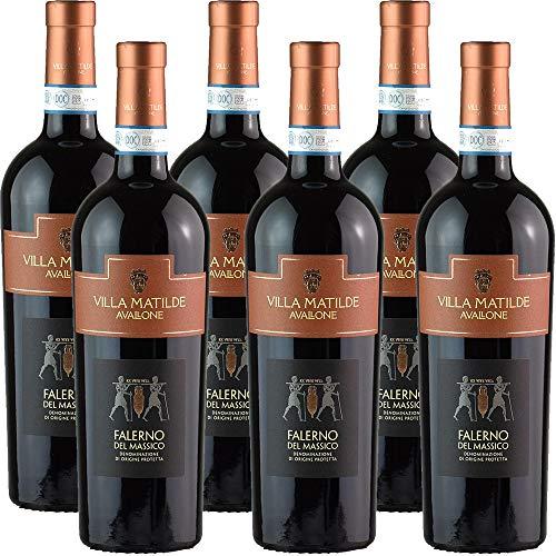 Falerno del Massico Doc   Villa Matilde   Vino Rosso della Campania   6 Bottiglie 75Cl   Idea Regalo