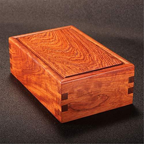 QinWenYan Zigarrenaufbewahrungsbox Hochwertiger Massivholz-Zigarettenetui Mahagoni-Zigarettenetui-Hygrometer-Feuchtigkeitscreme-Blatt Tenon Struktur Aufbewahrungsbox für Zigarre