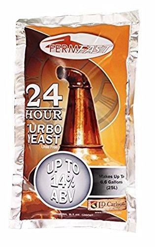 24 HOUR TURBO YEAST FERMFAST 260g PACKET of Distillers Yeast