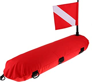 Spearfishing Inflatable Surface Marker Buoy Ball Signal Floater for Scuba Diving SM SunniMix Dive Float /& Flag Snorkeling
