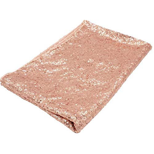 EDCV Tafelkleed Voor Bruiloft Decoratie Feest Banket Home Deco 1 Stks/partij Tafelkleed Glitter Rond & Rechthoekig, rose goud