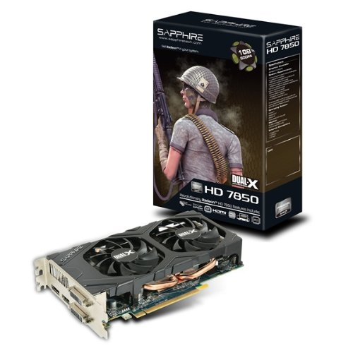 Sapphire ATI HD 7850 Grafikkarte 1GB (PCI-e, GDDR5 Speicher, HDMI, 2x DVI, DisplayPortP, 1 GPU)