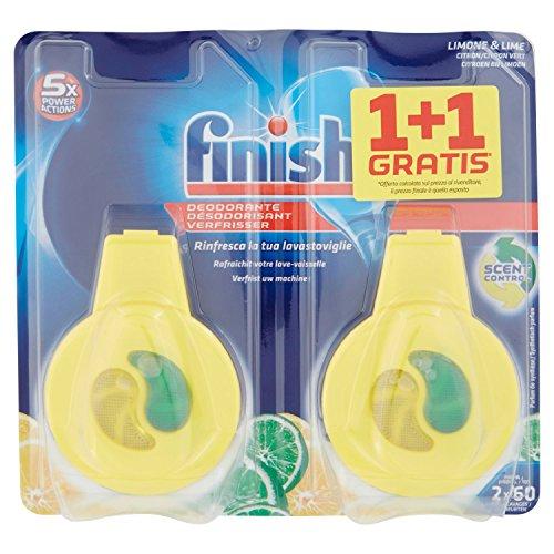 Finish Désodorisant Parfum Citron/Citron Vert Duo Pack - lot de 2 (4 unités)
