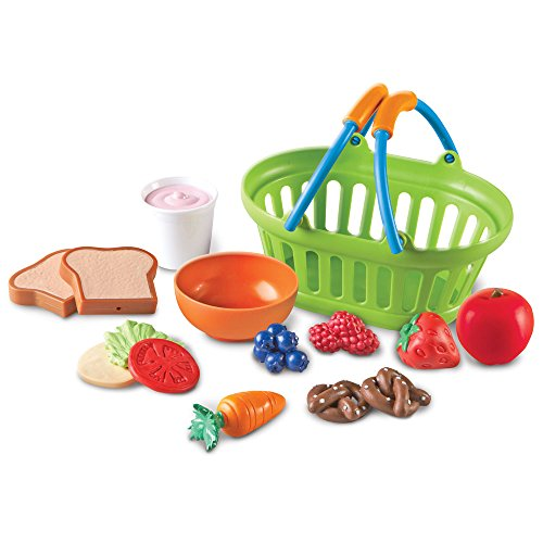 Learning Resources New Sprouts Healthy Lunch Toddler Pretend Play Food Set Outdoor Toys Pretend Picnic Play Lunch Food 15 Pieces Ages 2