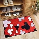 J.Ehonace Mickey Mouse Rugs - Bathroom Rug, Indoor Outdoor Entrance Rug, Kitchen Rug, 17' x 30' (Red)