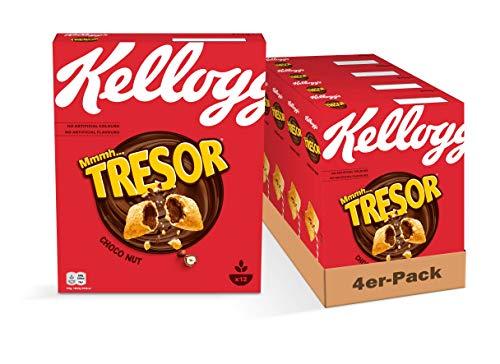Kellogg's Tresor Choco Nut Cerealien | 4er Vorratspack | 4 x 375g