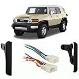 Compatible with Toyota FJ Cruiser 2007 2008 2009 2010 Double DIN Stereo Harness Radio Install Dash Kit