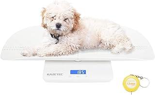 مقیاس حیوان خانگی ، مقیاس کودک چند منظوره ، مقیاس کودک نو پا دیجیتال با عملکرد نگهدارنده ، اندازه گیری مقیاس نوزادان بزرگسالان / توله سگ / گربه / سگ وزن (حداکثر: 220 پوند) و قد (حداکثر: 60 سانتی متر) به طور دقیق ، با دقت 10 ± ، KG / LB / OZ