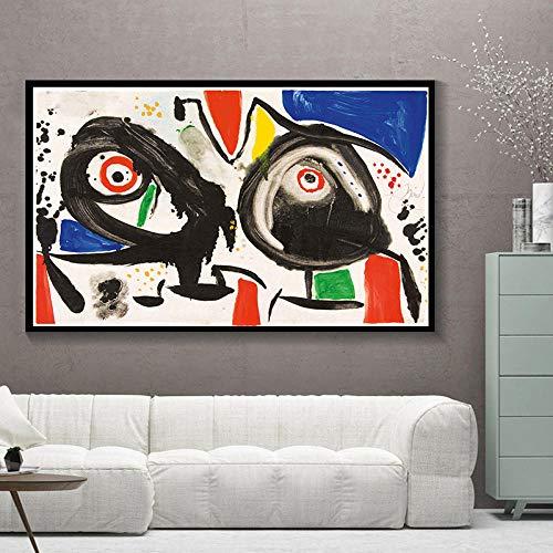 GJFKD XINQI Joan Miro Modern Surrealismo Arte Pinturas en