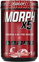 iSatori Morph X5 Intense Pre Workout Powder - with Citrulline Malate, Beta Alanine, Creatine Magnapower, and Other Nitric Oxide Supplements - Great Tasting Preworkout - Cherry Frost (20 Servings)
