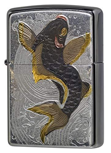 【ZIPPO】 ジッポーライター オイル ライター 和板 電鋳板 鯉 大鯉 コイ 和柄 ジッポー