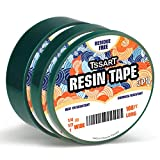TSSART Small Size Resin Tape Set for Epoxy Resin Molding - 3 Pack of Thermal Silicone Adhesive Tape,High Temperature Resistance Easy Peeling, Fasten Tape for Epoxy Resin (1inch & 1/2inch & 1/4 inch)