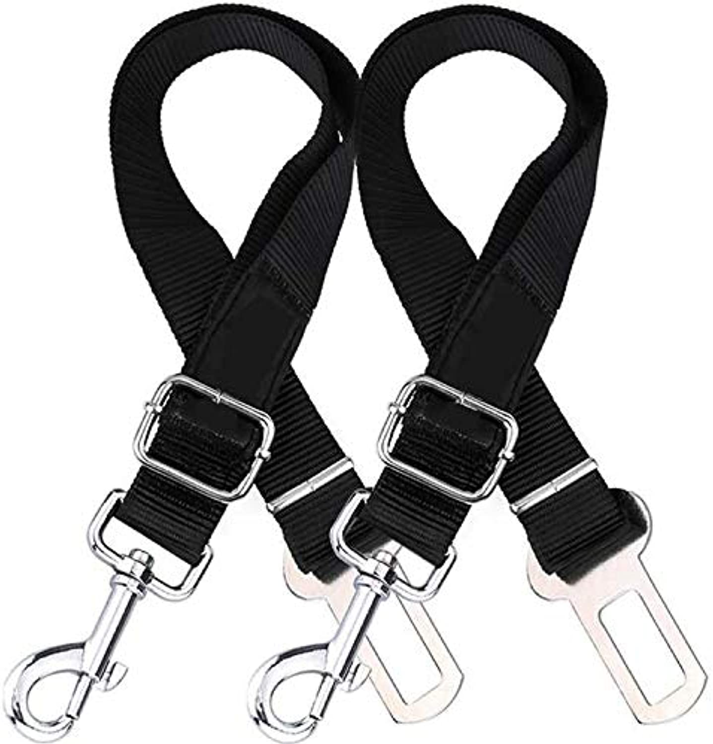 2 Packs Adjustable Pet Dog Cat 2019Car Seat Belt Safety Leads Vehicle Seatbelt Harness Auto Traction Pet Dog Supplies,Black