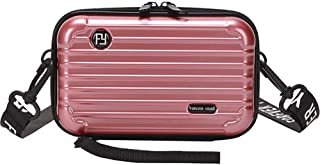 Tenlso Hard Shell Makeup Bag with Strap, Waterproof Mini Portable Cosmetic Case, Stylish Toiletry Bag for Travel