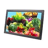 Marco de Fotos Digital HD HDMI Independiente de 21 Pulgadas, álbum de Fotos electrónico con Pantalla LED, Reproductor de Publicidad en Video 1080P, Blanco/Negro
