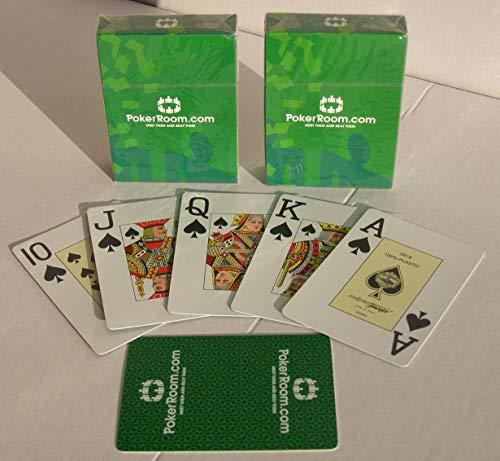 Fournier 2 x 2818 Poker Karten Großer Index Pokerkarten 100% Plastik Spielkarten ohne Joker