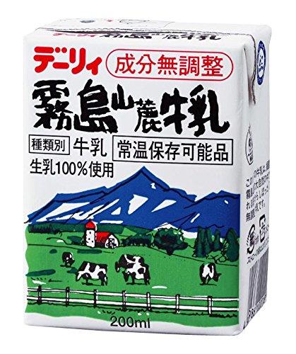 南日本酪農協同 </br></noscript>デーリィ霧島山麓牛乳 200ml×24本