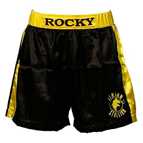 Rocky Black Italian Stallion Boxer Shorts (Adult Small)