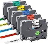 MarkField TZe TZ Cintas de Etiquetas Compatible para usar en lugar de Brother P-Touch TZe-231 431 531 631 731 12mm, para Etiquetadoras ptouch 1000 1010 1080 1090 1200 1200P 1230PC 1250 1280