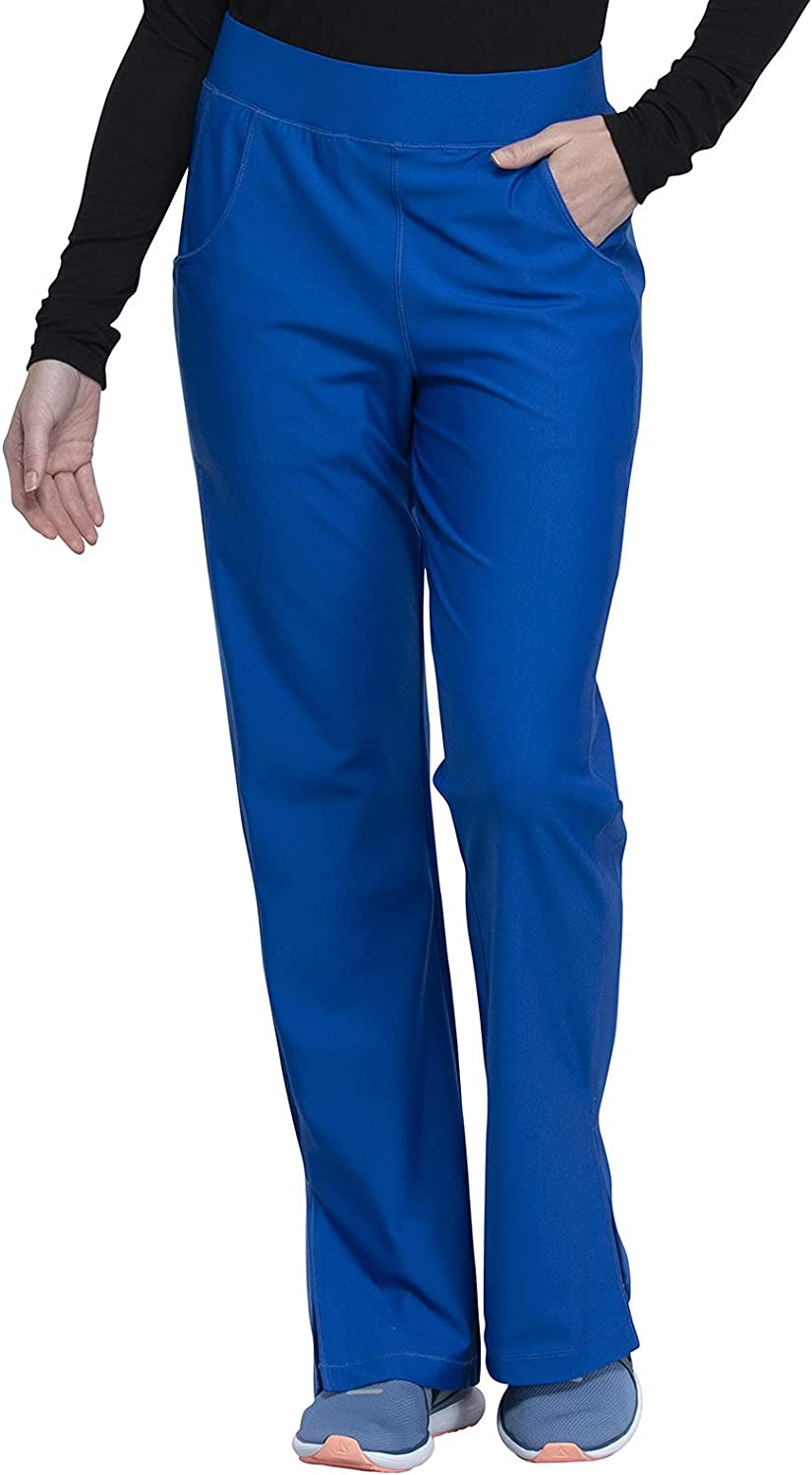 Cherokee Form Women Scrubs Pant Mid Rise Moderate Flare Leg Pull-On CK091