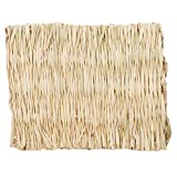 DearAnswer Small Animal Chew Toy Beds Natural Handwoven Grass Mats Safe and Edible for Hamsters Rabbits Parrot...