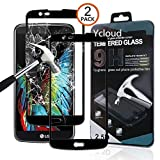 Ycloud [2 Pack Protector de Pantalla para LG K10 (2016 Version) [Cobertura Completa] Vidrio Templado Screen Protector (Negro)