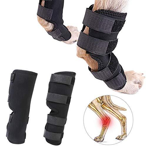 Rodillera Perro Antiinflamatorio para Perros Cadera y articulación para Perros Cuidado de articulaciones para Perros Pata de Perro Vendaje Black,l