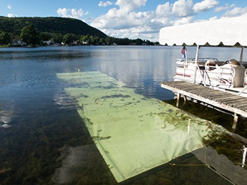 Lake Bottom Blanket Aquatic Weed Control, a Chemical Free 10 feet x 40 feet Lake Weed Control Benthic Barrier Kills 100% Weeds it Targets, Doesn't Harm The Lake Instant Weed Free Swimming
