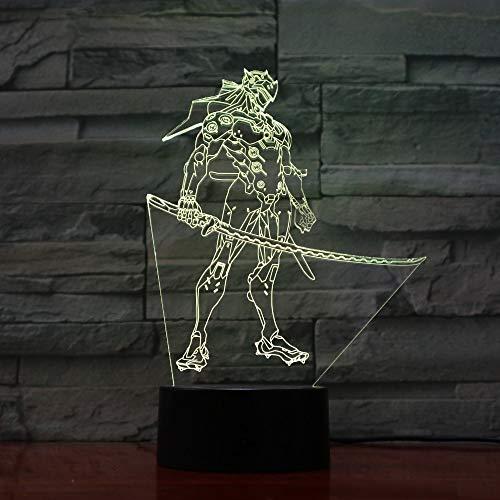 Personaje de Anime de Dibujos Animados ilusión Visual lámpara de Mesa Humor luz táctil Control Remoto Tipo Color lámpara para el hogar Regalo para niños