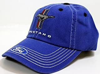Running Horse Tri-Bar Blue and White Hat
