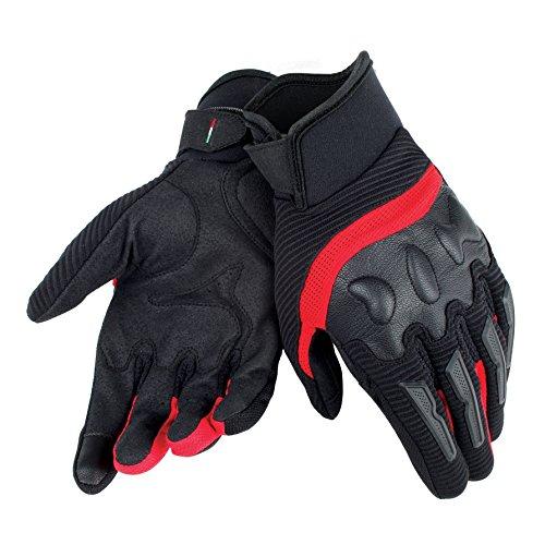 Dainese-AIR FRAME UNISEX Handschuhe, Schwarz/Rot, Größe XL