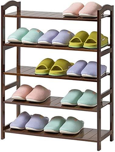 Wddwarmhome Zapatero de bambú de varias capas de tablero completo zapatero de madera maciza de almacenamiento de zapatos gabinete multifunción para el hogar tipo economía espacio