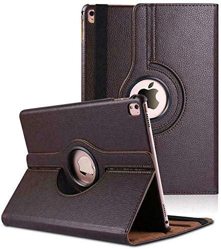iCatchy For iPad 10.2 Case 8th/7th Generation (2020/2019) 360 Leather Wallet Rotating Durable Protective Cover (Black)