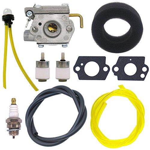 NIMTEK 753-04408 Carburetor with Air Filter Fuel Line Filter for MTD Cub Cadet Trimmer BC2090 CC2020 CC2090 ST2020 McCulloch MT700 MT705 MT765 MB320BV Yard Man 3100M Y765 Y700 YM300