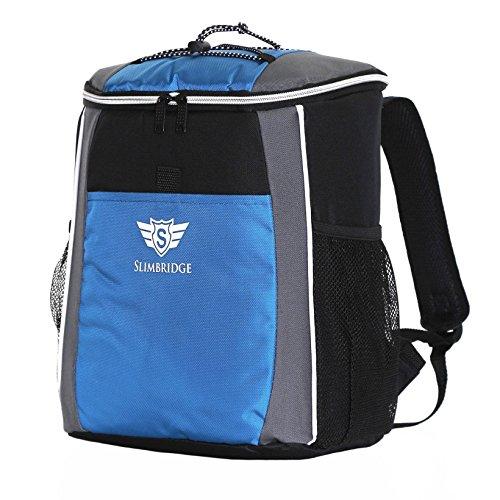 Slimbridge Fully Insulated Camping Hiking Picnic Backpack Cooler Bag Rucksack for Men Women and Family 35 cm 400 grams 18 litres, Brean Blue