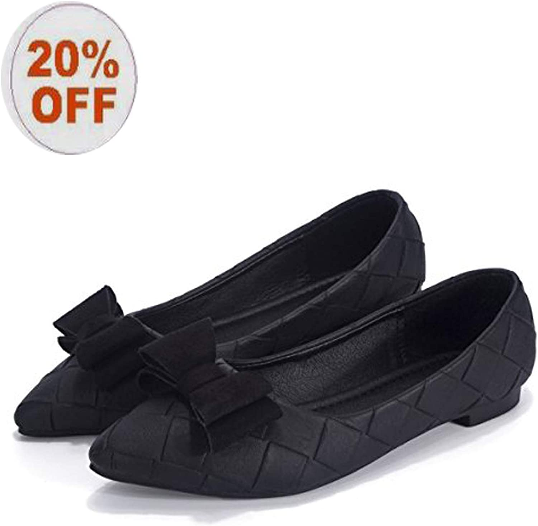 Women's Classic Pointy Toe Ballet PU Slip On Flats