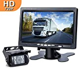 DVKNM Upgrade Backup Camera Monitor Kit,1280X720P HD,IP69 Waterproof Rearview Reversing Rear View Camera 7'' LCD Reversing Monitor Truck/Semi-Trailer/Box Truck/RV — HD Transmission, Four-pin — (TZ101)