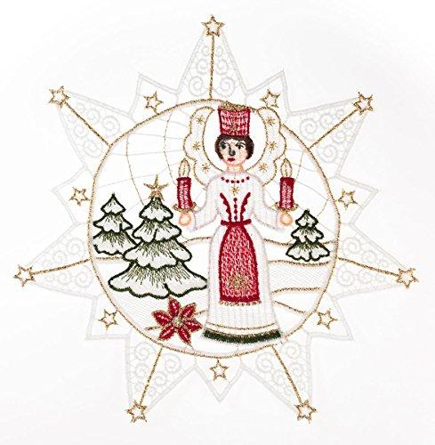 Plauener Spitze finestra 'a forma di stella con angelo con le candele' colori da finestra drachensilber immagini a mano decorazione per finestre