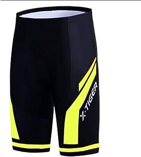 FKnbM Short de cyclisme avec bretelles et rembourrage en gel pour cyclisme et VTT