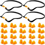 Banded Ear Plugs Hearing Bands Silicone Band Earplugs and Replacement Ear Buds Shooting Ear Plugs for Noise, Sleeping, Studying and Construction (48)