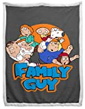 Jay Franco Family Guy Family Portrait Sherpa Back Blanket - Measures 60 x 90 inches, Bedding Features The Griffin Family - Fade Resistant Super Soft (Official Family Guy Product)