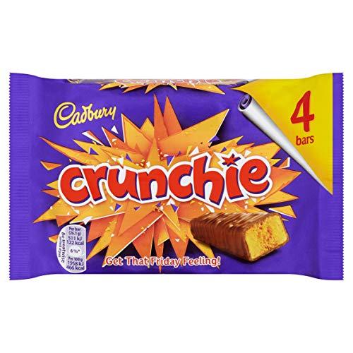 Cadbury Crunchie Chocolate Bar, 4x26.1g