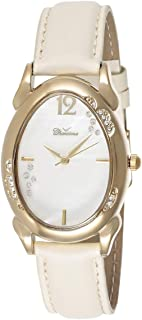 Charisma Women's White Dial Leather Band Watch - C6395