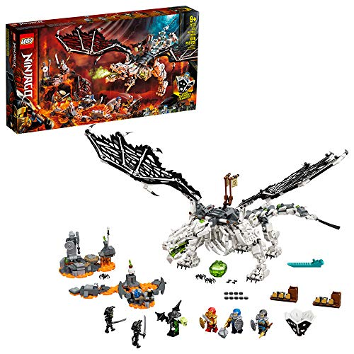 LEGO NINJAGO Skull Sorcerer's Dragon 71721 NINJAGO Dragon Set Featuring Warrior Toy Figures (1,016 Pieces)