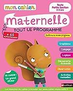 Mon cahier maternelle 2/3 ans - Toute Petite Section de Maternelle d'Anne Popet