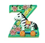 MARY ENGELBREIT Decorative Alphabet Letter Super Magnet ~ 'Z' ~ Zebra ~ Zipper